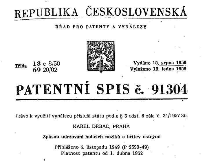 První strana patentního spisu I foto: archiv silesia.wz.cz