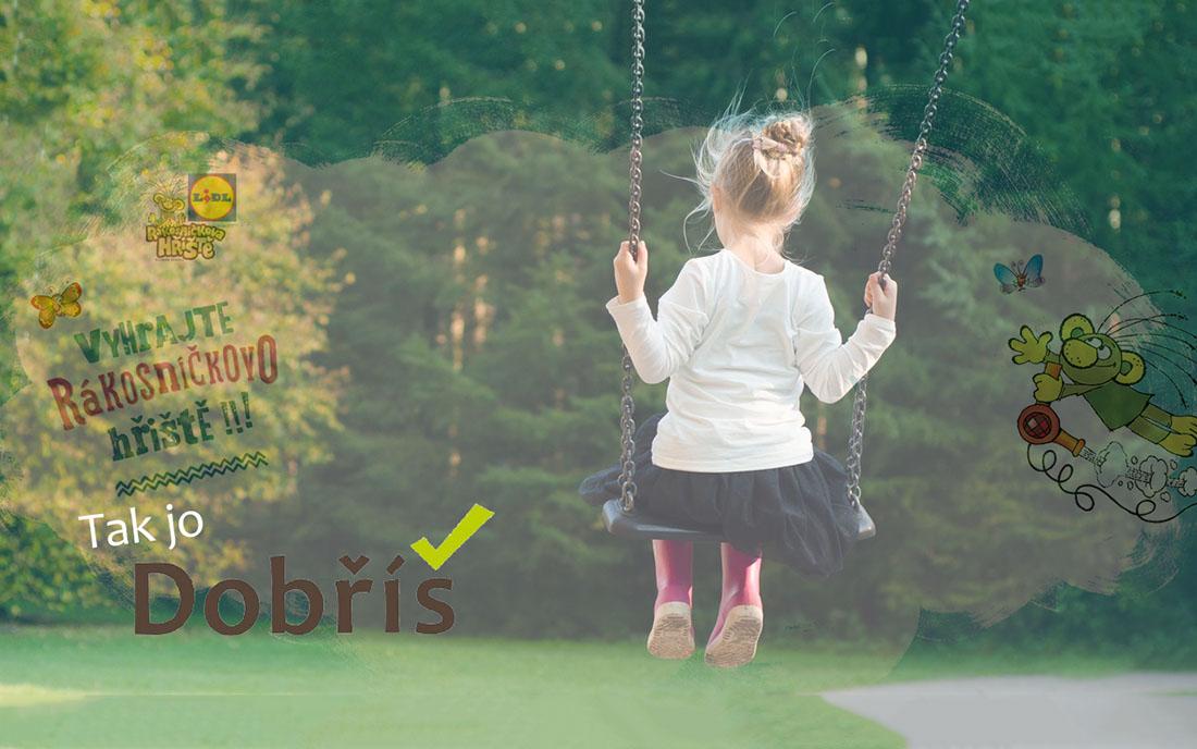 Rákosníčkovo hřiště v Dobříši I zdroj: Pexels + Redakce + Rákosníčkovo hřiště + logo město Dobříš