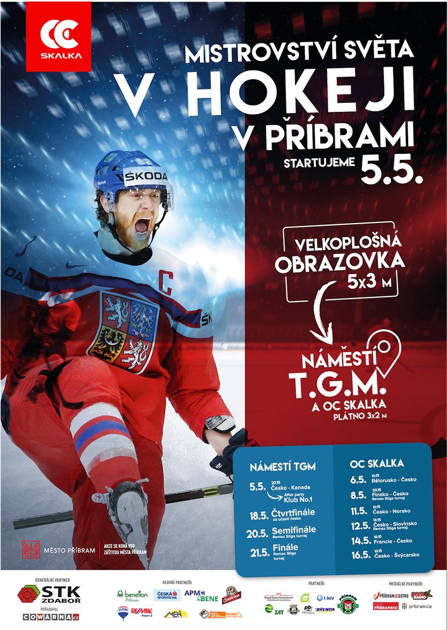 Přijďte fandit českým hokejistům na náměstí I plakát: CWRN