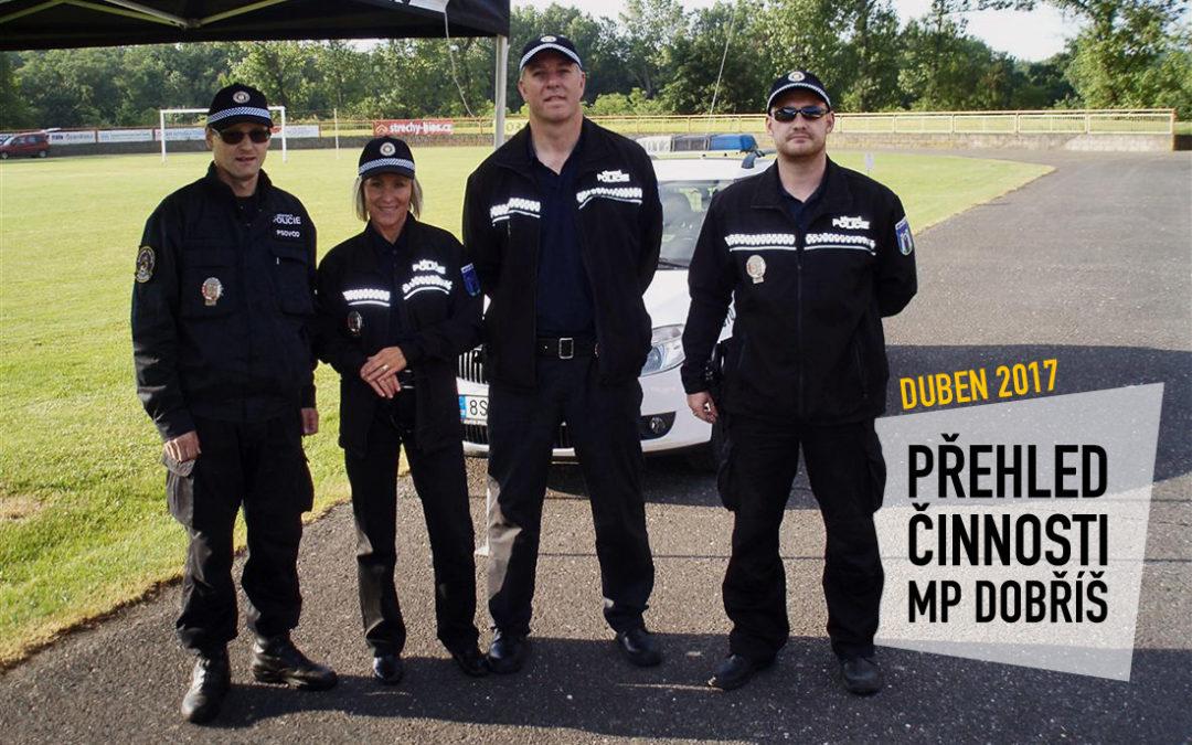 Činnost Městské policie Dobříš za měsíc duben
