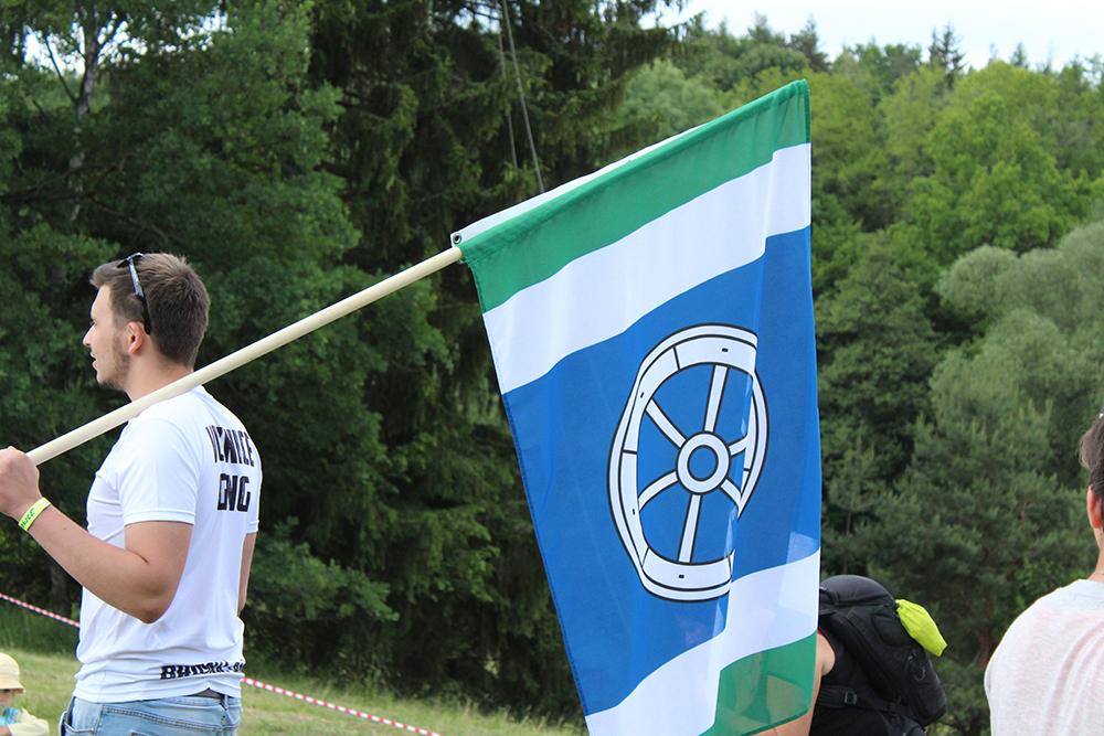 Nechyběly ani vlajky jednotlivých obcí  I  foto: Šárka Spáčilová