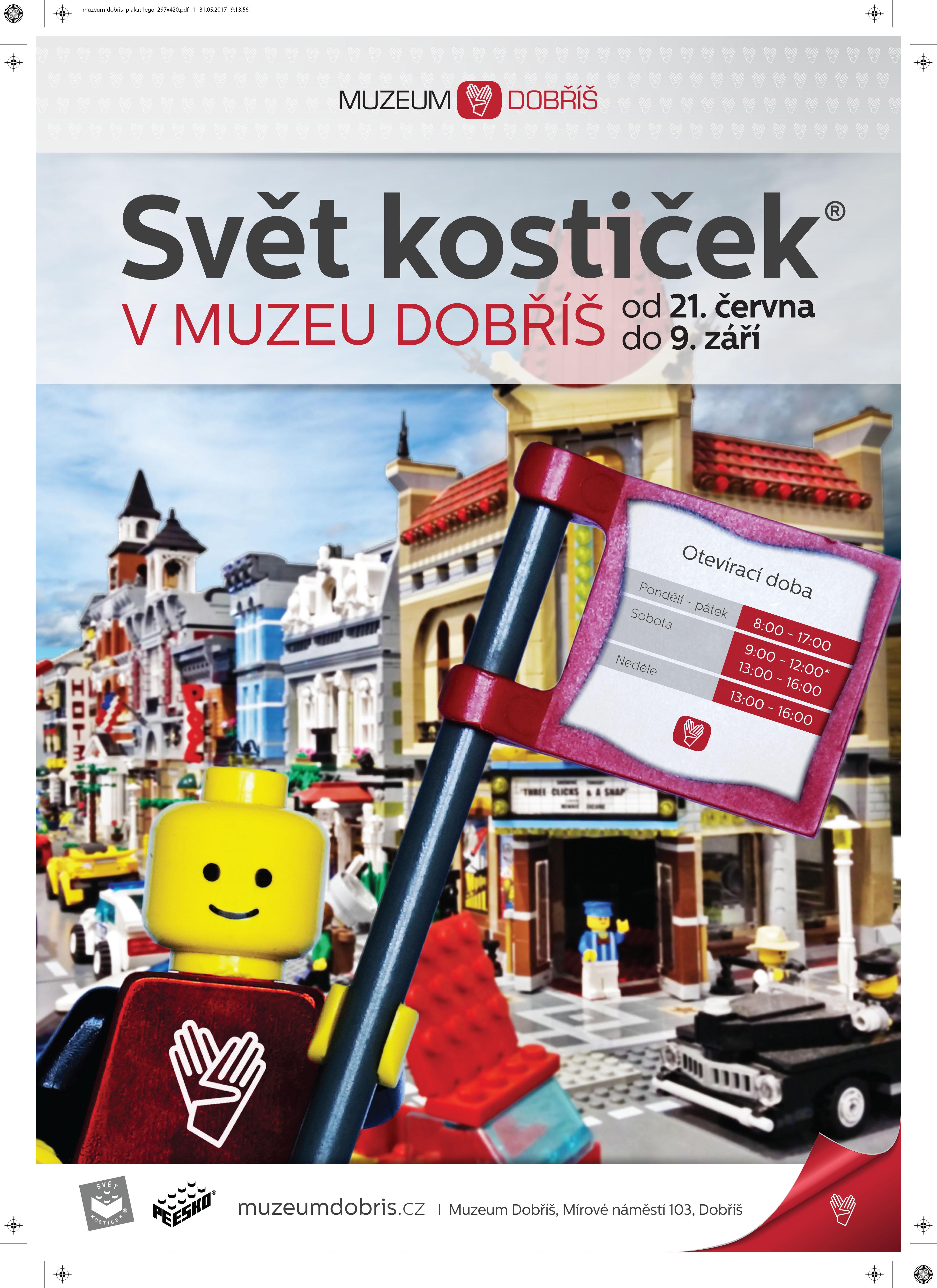 Lego výstava v Muzeu Dobříš I plakát: Muzeum Dobříš