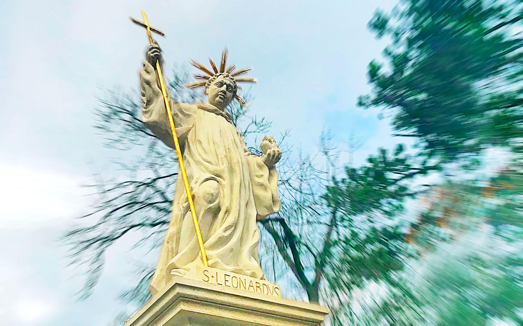Kopie sochy svatého Leonarda  I  foto: archiv město Dobříš