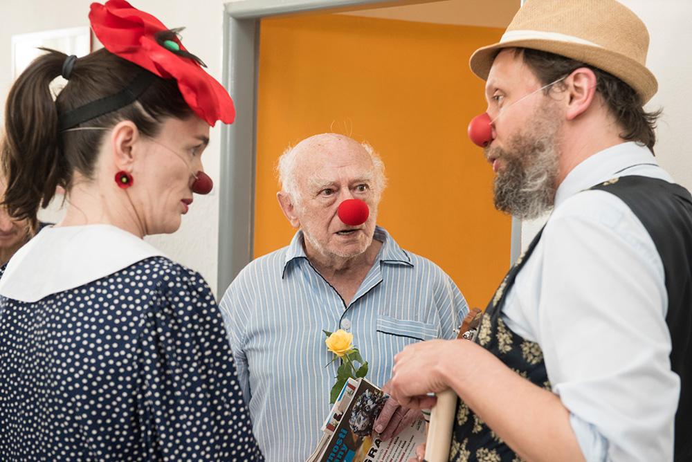 Návštěva zdravotních klaunů v příbramské nemocnici  I  foto: archiv ONPB