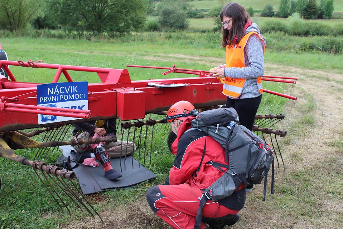 Během nehody traktoru  I  foto: Šárka Spáčilová